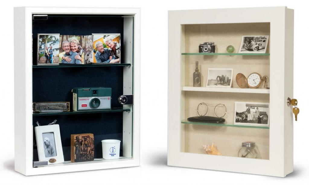 Style 1 and Style 3 Wall Mount Memory Boxes - Dementia Memory Boxes - Custom Display Designs Memory Boxes