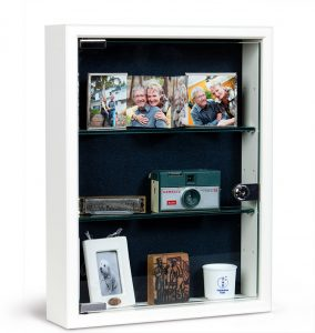 Locking glass door memory boxes - Assisted Living Memory Boxes - Alzheimer's Care
