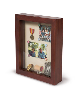 Surface Mounted Dementia Memory Box style 2 - Elder Care Living memory Box - Senior Care Facility Shadow Boxes - Custom Display Designs