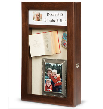 Dementia Memory Box Style 1S - Alzheimer memory Box - Assisted Facility Shadow Boxes - Custom Display Designs