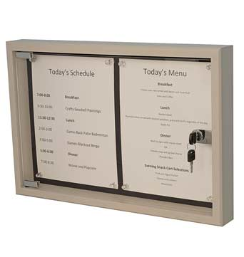 Community Message Display Boxes - Custom Display Designs Assisted Living Memory Boxes
