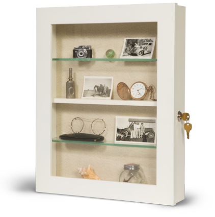 locking memory box for assisted living - key lock memory box - dementia care memory box