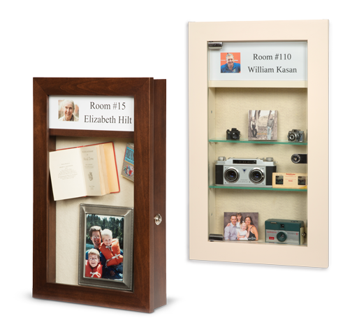 memory box - assisted living memory box - memory box recessed in wall - buy memory box for assisted living